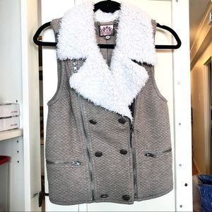 JUICY COUTURE Shearling Vest